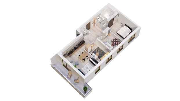 Mieszkanie 73.05 m2