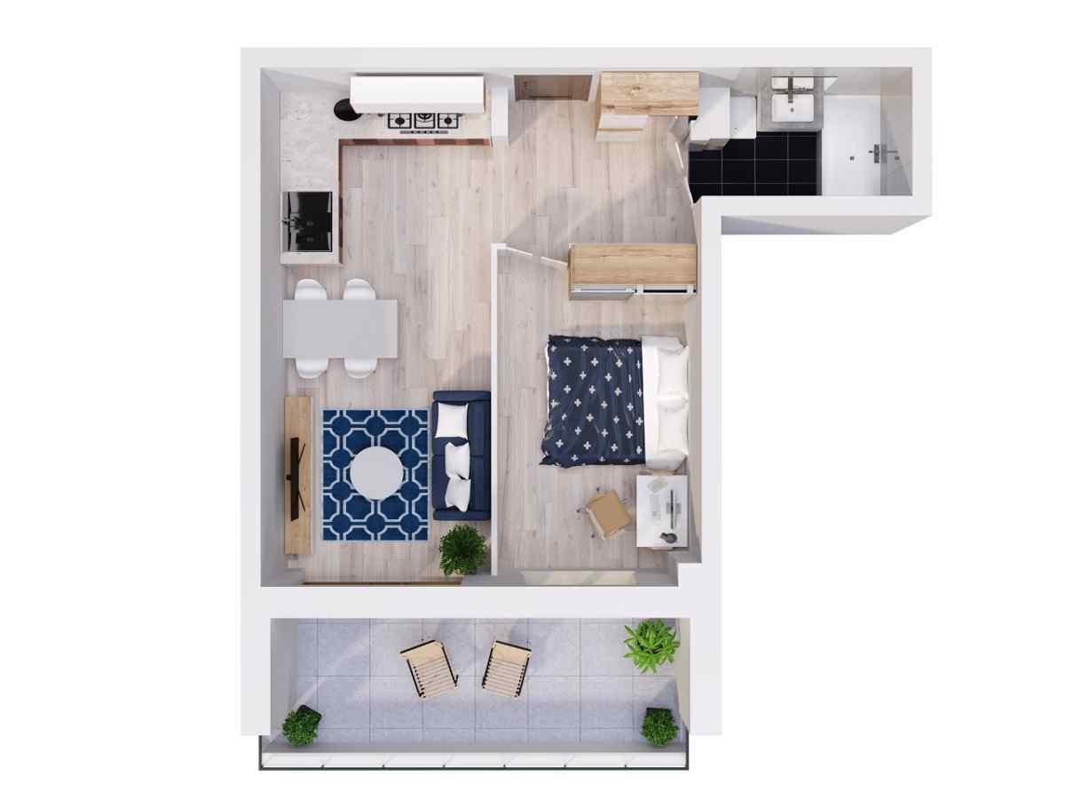 Mieszkanie 40,25 m2, Lubelska, Rzeszów
