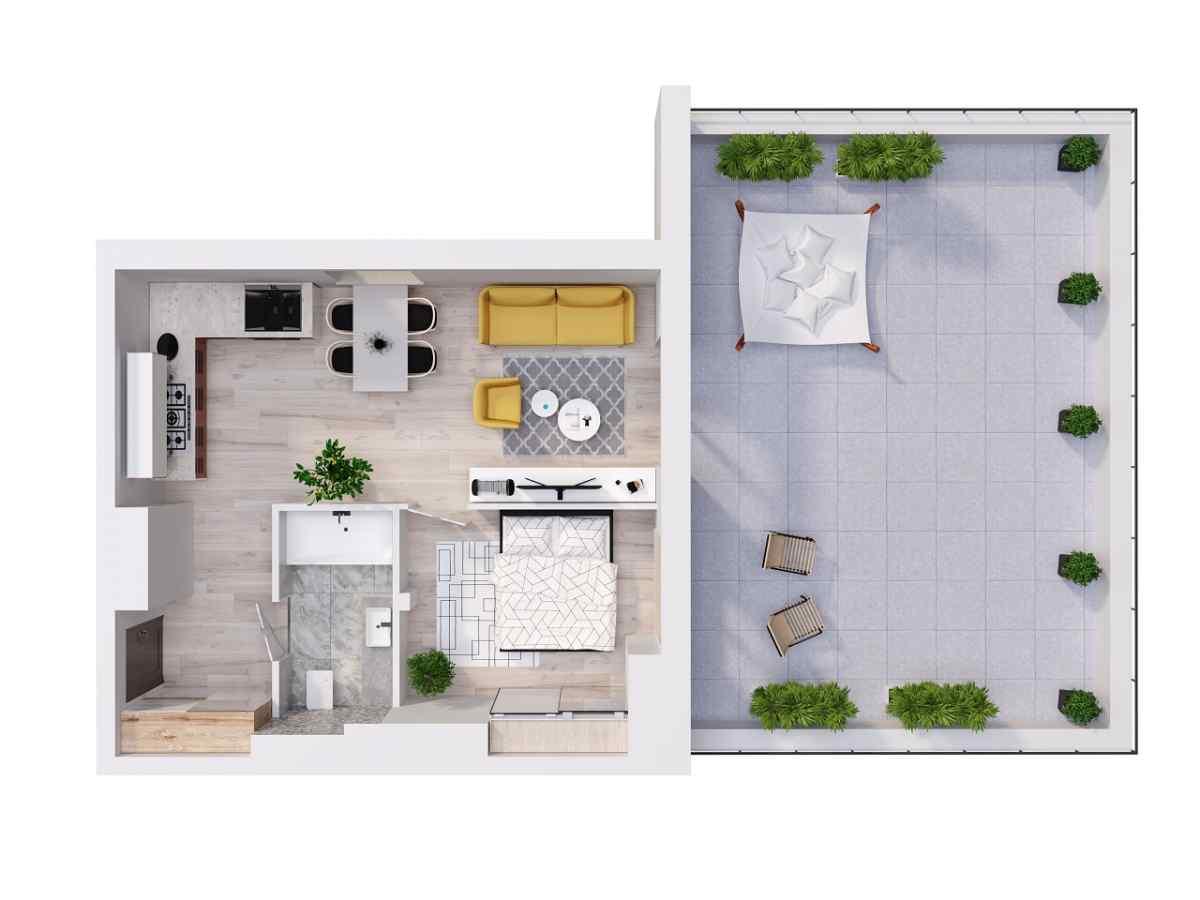 Mieszkanie 45,48 m2, Lubelska, Rzeszów