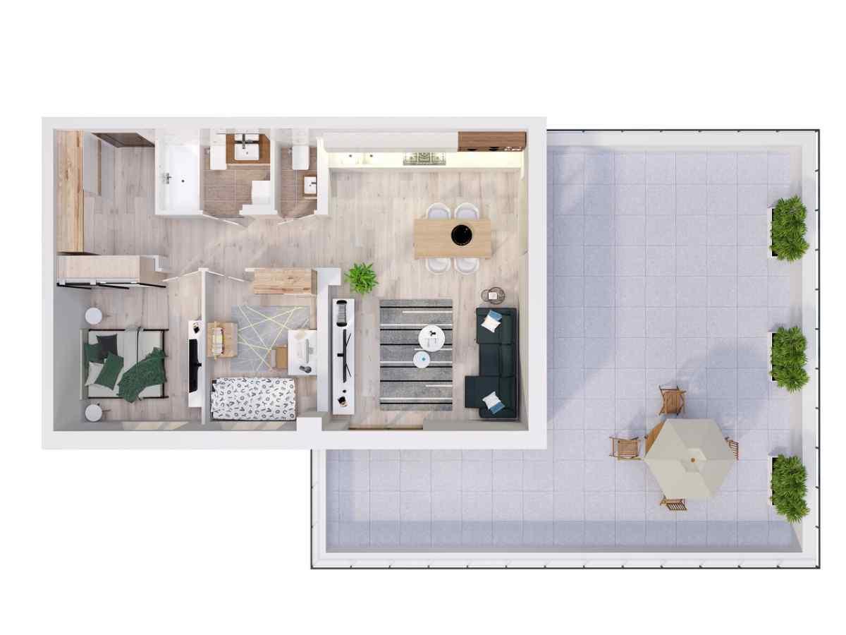 Mieszkanie 65,6 m2, Lubelska, Rzeszów