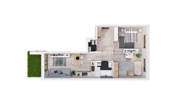 Mieszkanie 64.05 m2