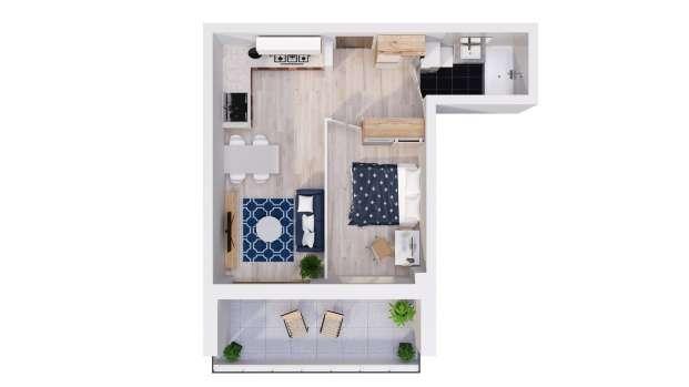 Mieszkanie 40.25 m2