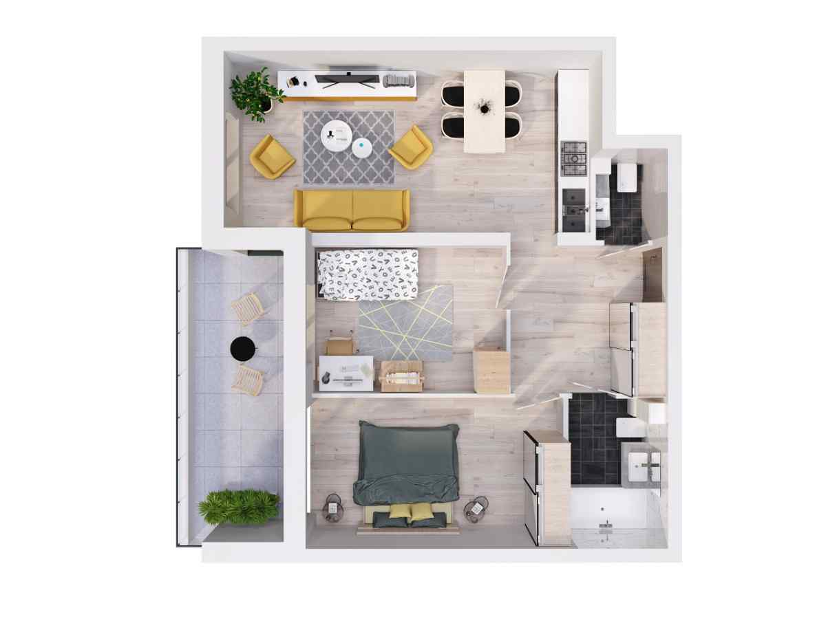 Mieszkanie 60,13 m2, Lubelska, Rzeszów