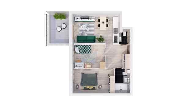 Mieszkanie 55.32 m2