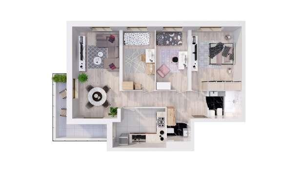 Mieszkanie 87.01 m2