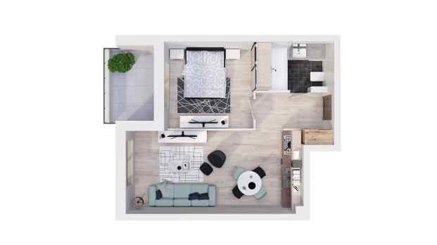 Mieszkanie 44.78 m2
