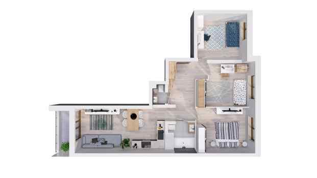 Mieszkanie 75.74 m2