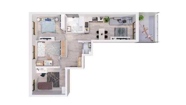 Mieszkanie 77.65 m2