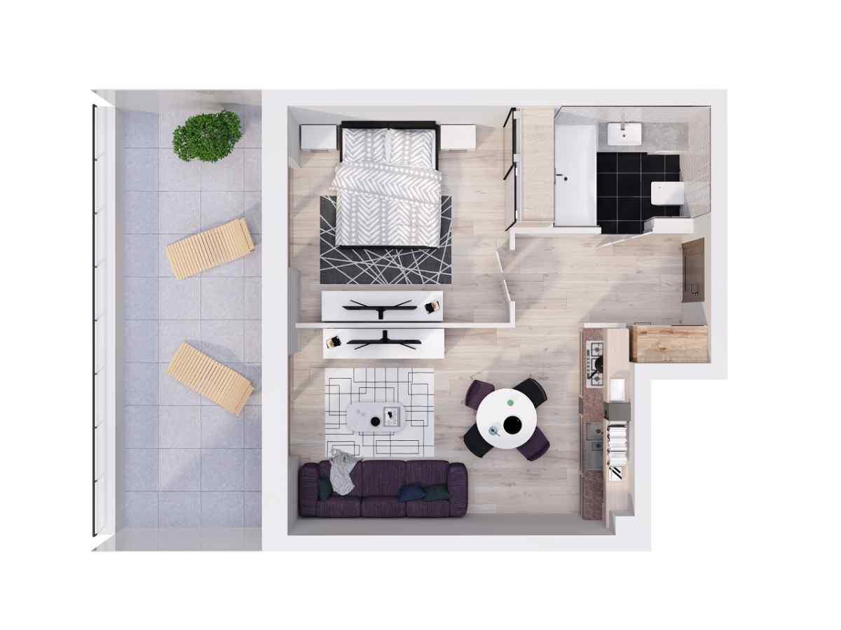 Mieszkanie 39,93 m2, Lubelska, Rzeszów