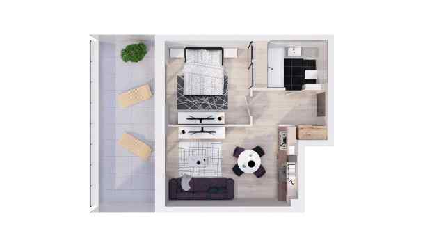 Mieszkanie 39.93 m2
