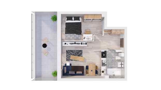 Mieszkanie 39.69 m2