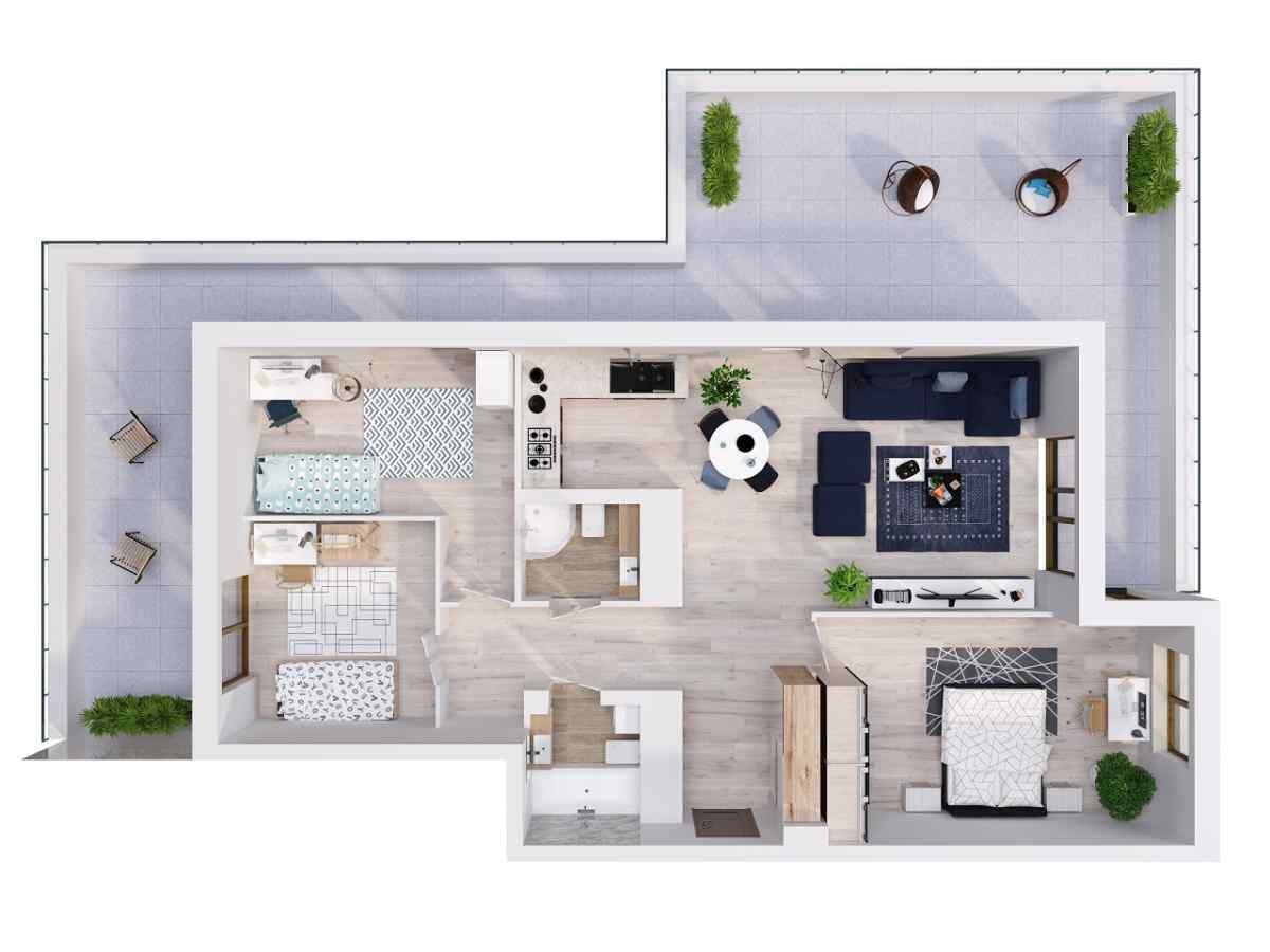 Mieszkanie 97,85 m2, Lubelska, Rzeszów