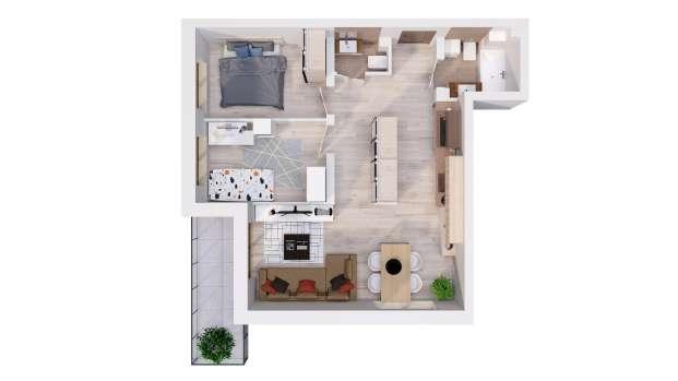 Mieszkanie 57.67 m2