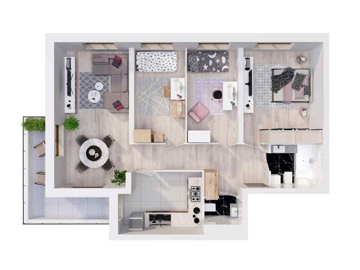 Mieszkanie 86,6 m2, Lubelska, Rzeszów