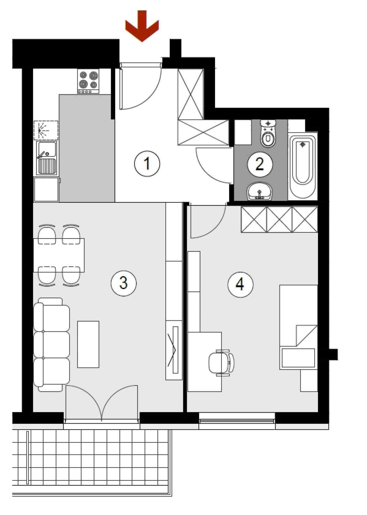 Mieszkanie 49,91 m2, Lubelska, Rzeszów