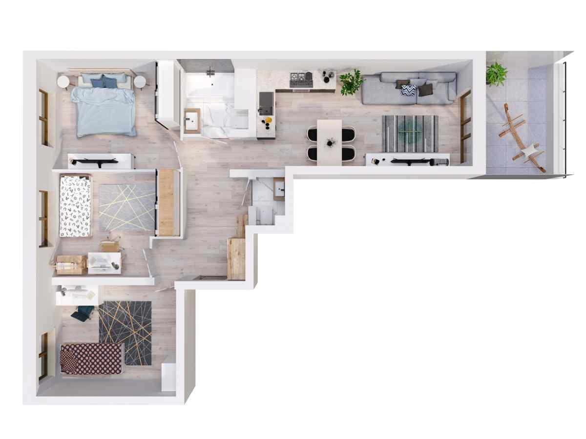 Mieszkanie 77,65 m2, Lubelska, Rzeszów