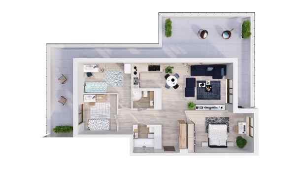 Mieszkanie 97.85 m2