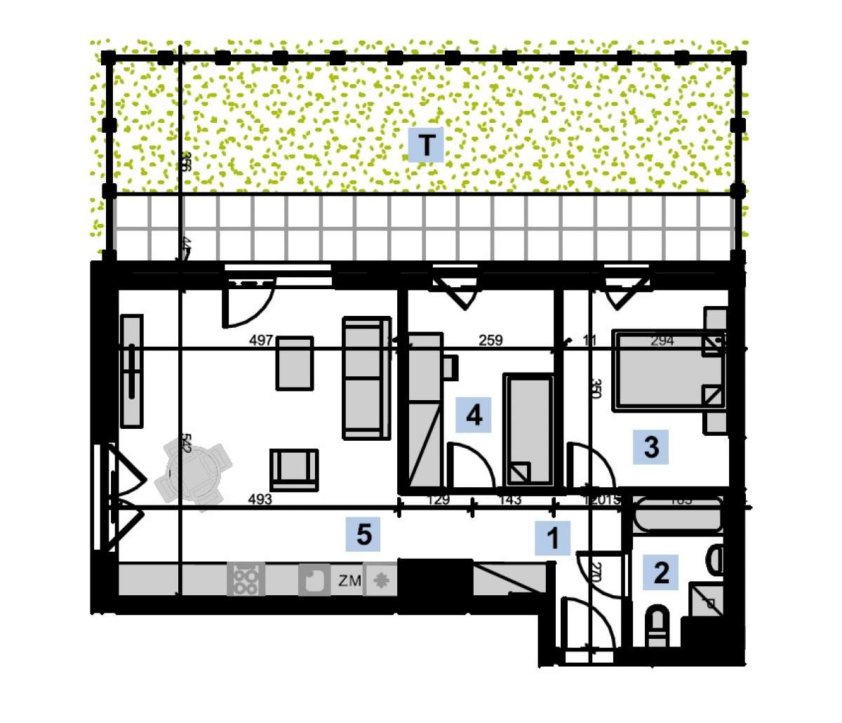 Mieszkanie 57,55 m2, Kwiatkowskiego 4, Rzeszów