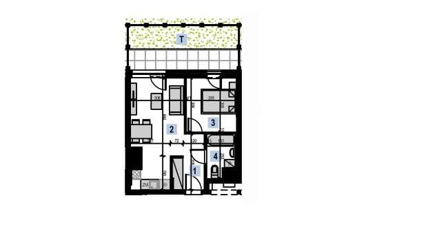 Mieszkanie 34.33 m2