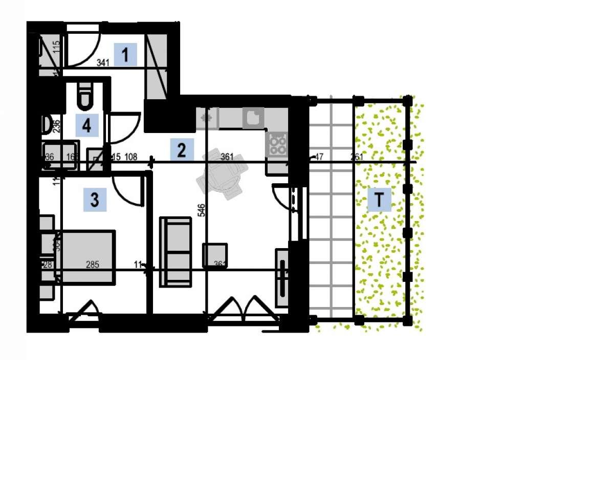 Mieszkanie 39,54 m2, Kwiatkowskiego 4, Rzeszów