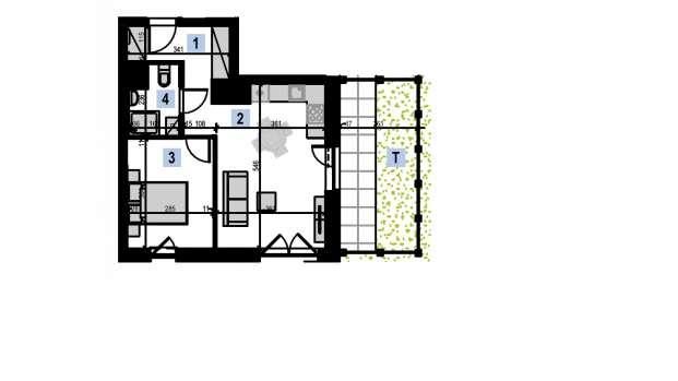 Mieszkanie 39.54 m2