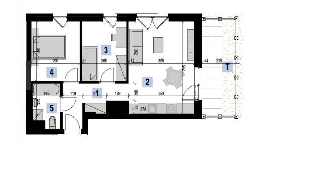 Mieszkanie 51.73 m2