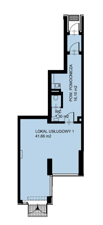 Lokal usługowy 62,04 m2, Warszawska/Lubelska, Rzeszów