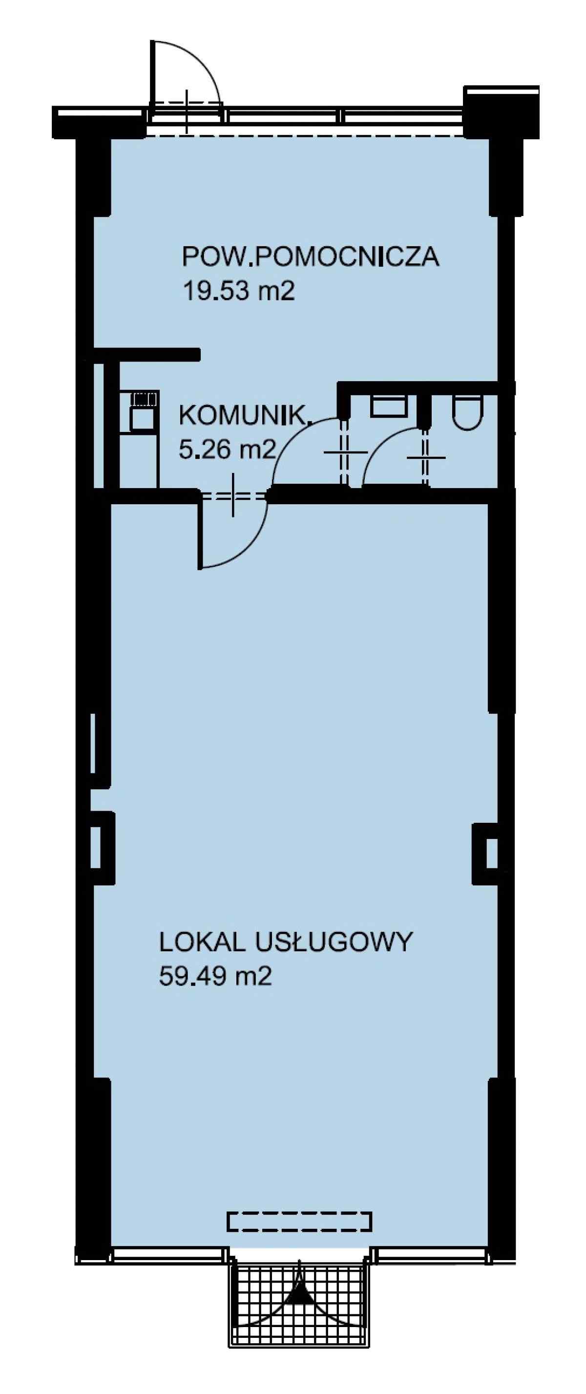 Lokal usługowy 87,15 m2, Warszawska/Lubelska, Rzeszów