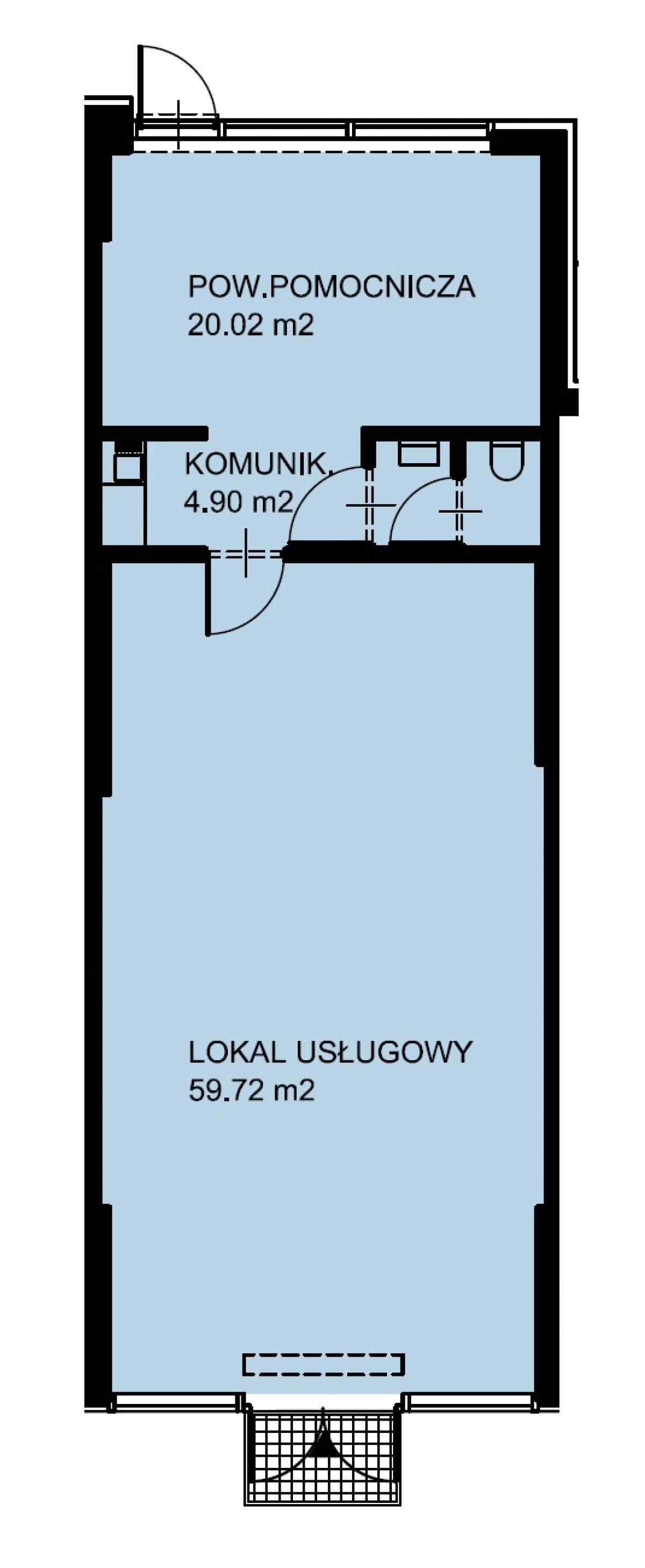 Lokal usługowy 87,51 m2, Warszawska/Lubelska, Rzeszów