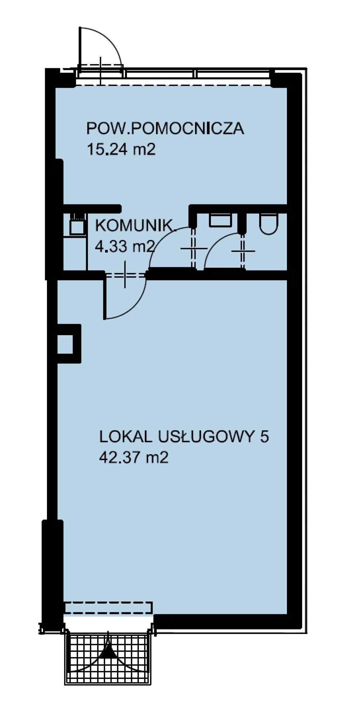 Lokal usługowy 64,81 m2, Warszawska/Lubelska, Rzeszów