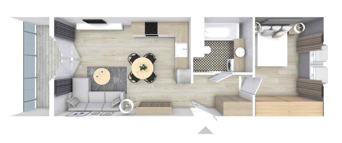 Mieszkanie 38,97 m2, Graniczna, Rzeszów