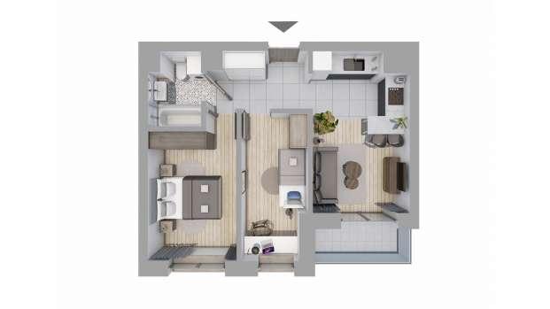 Mieszkanie 47.17 m2