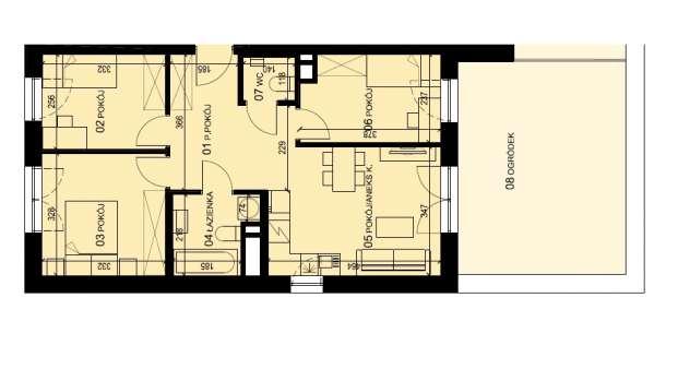 Mieszkanie 59.60 m2