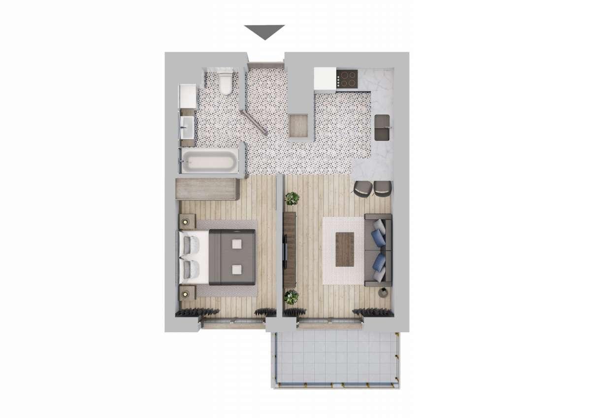 Mieszkanie 36,39 m2, Graniczna, Rzeszów