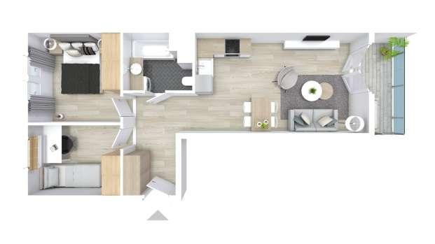 Mieszkanie 52.90 m2