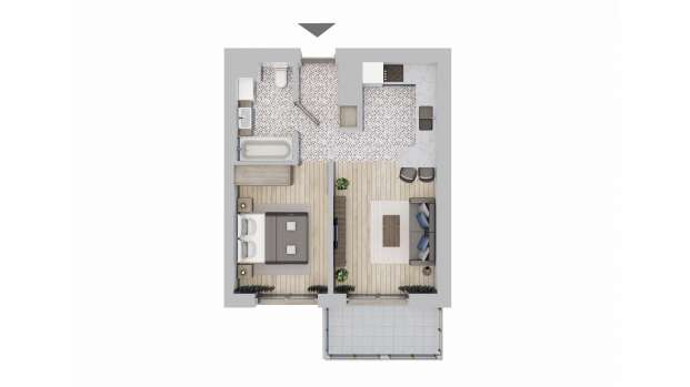 Mieszkanie 36.39 m2