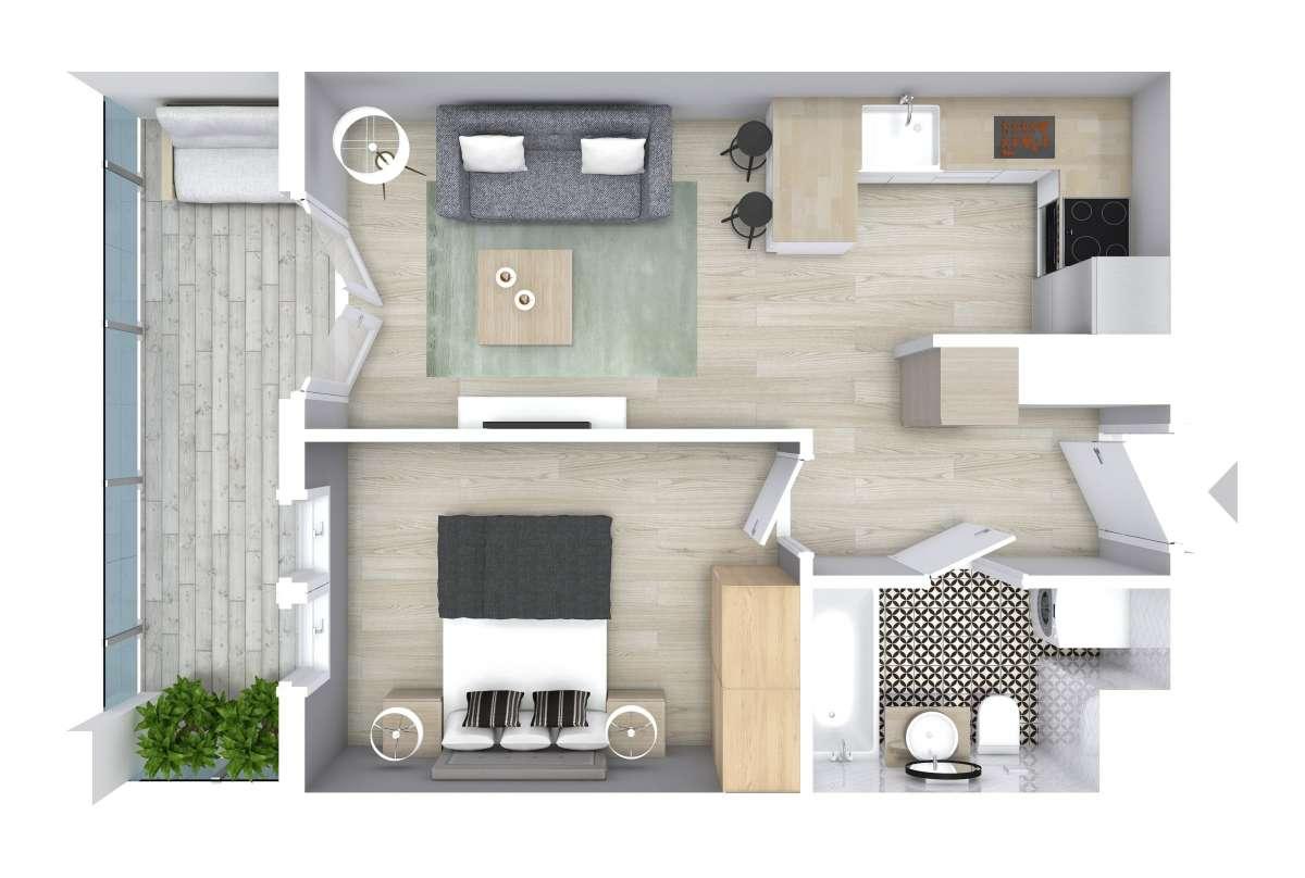 Mieszkanie 34,29 m2, Graniczna, Rzeszów