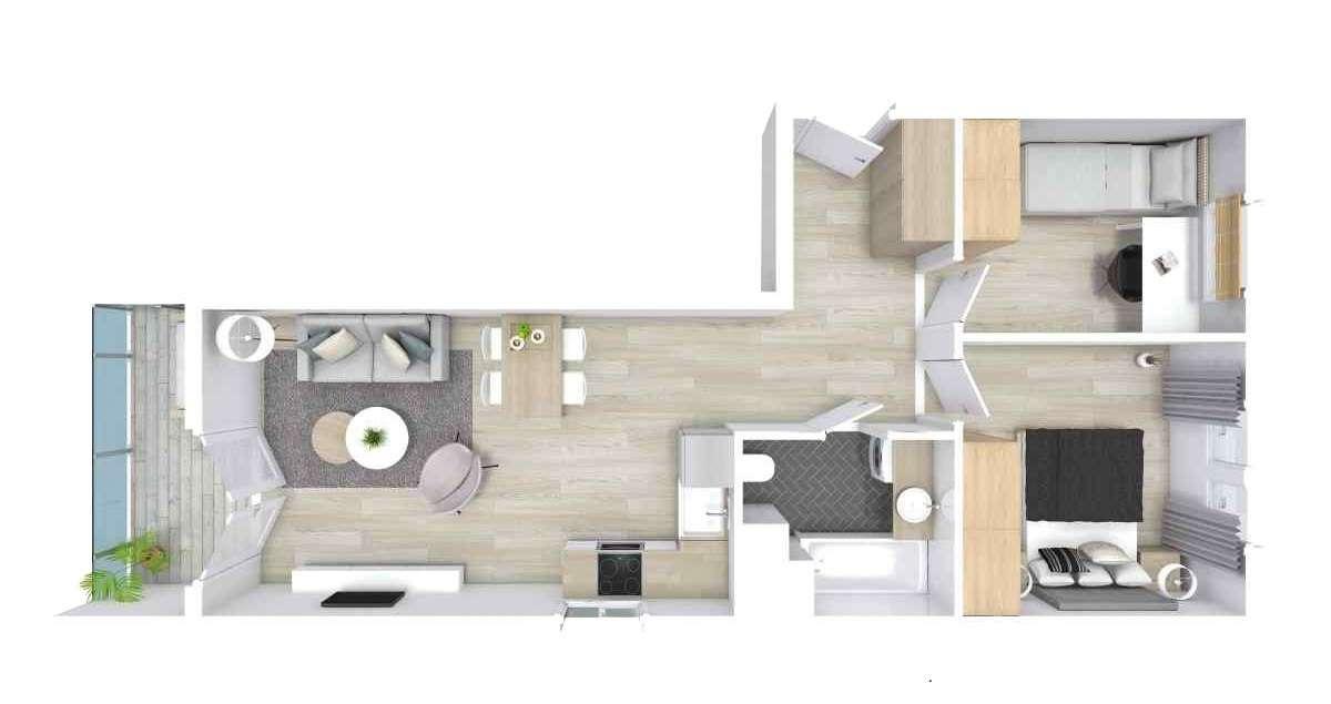 Mieszkanie 44,63 m2, Graniczna, Rzeszów
