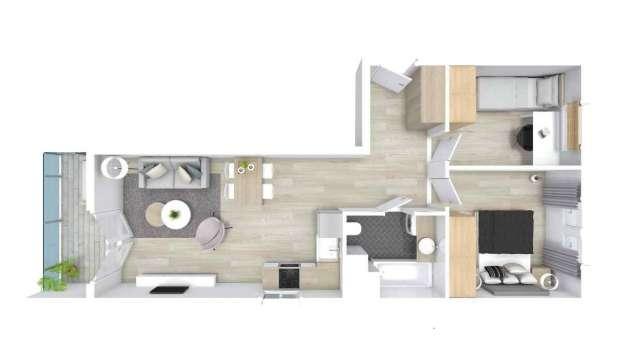 Mieszkanie 44.63 m2