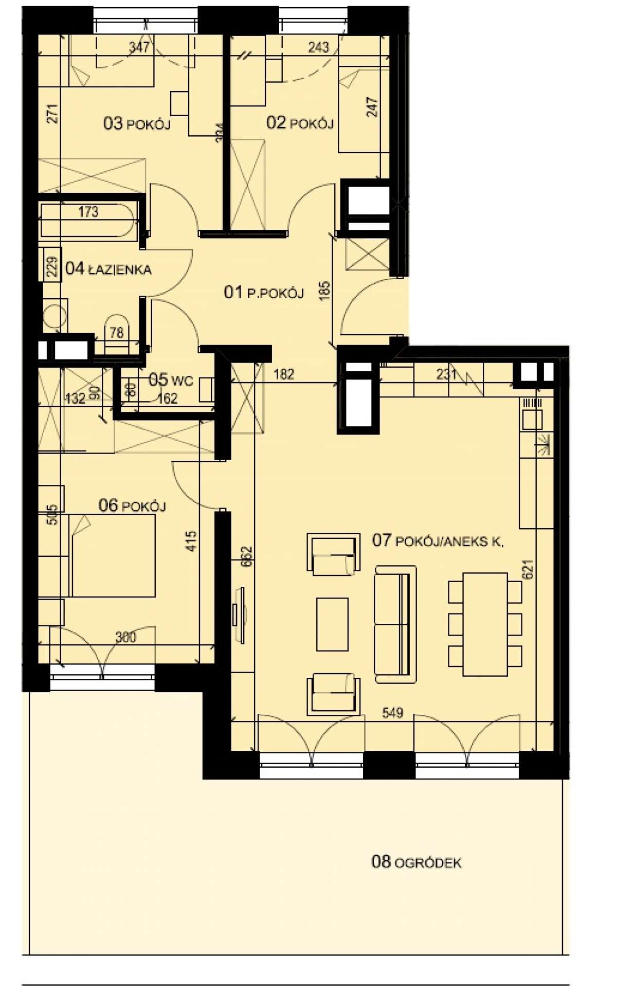Mieszkanie 80,51 m2, Graniczna, Rzeszów