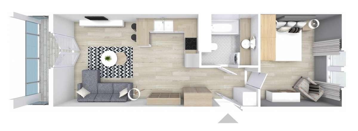 Mieszkanie 47,45 m2, Graniczna, Rzeszów