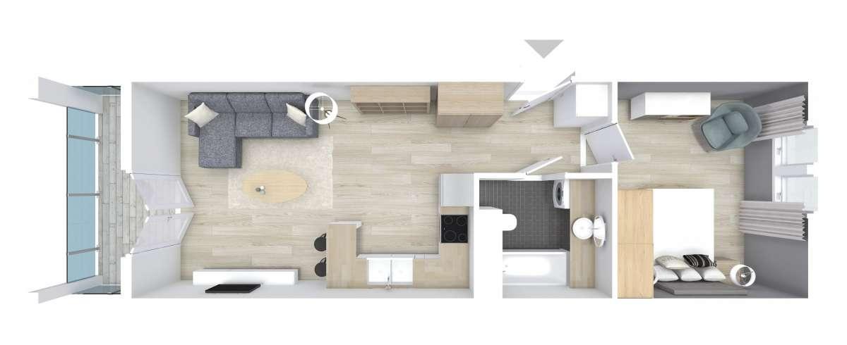 Mieszkanie 44,62 m2, Graniczna, Rzeszów