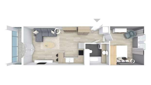 Mieszkanie 44.62 m2