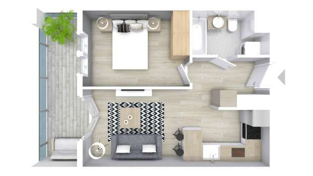 Mieszkanie 34.29 m2