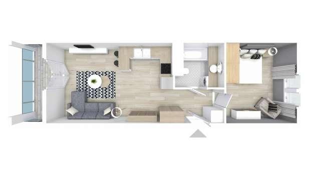 Mieszkanie 47.45 m2