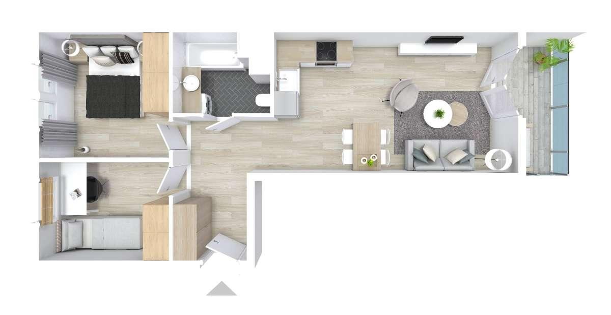 Mieszkanie 52,9 m2, Graniczna, Rzeszów