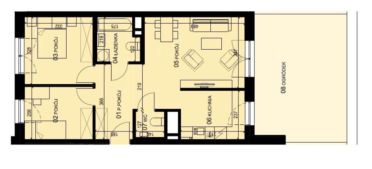 Mieszkanie 59,5 m2, Graniczna, Rzeszów