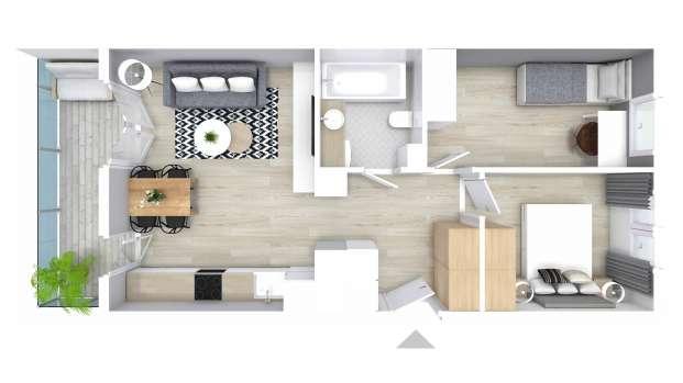 Mieszkanie 50.98 m2