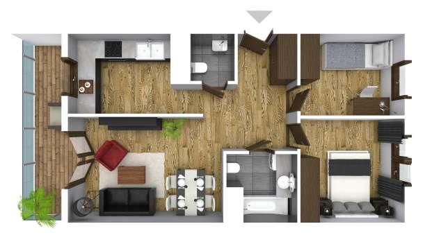 Mieszkanie 59.50 m2