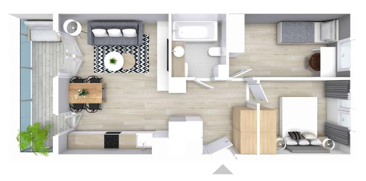 Mieszkanie 50,98 m2, Graniczna, Rzeszów